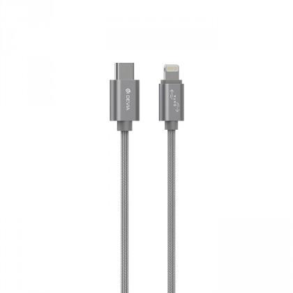 Pro Apple Kabel Devia USB Typ C na Lightning, 1m, šedá