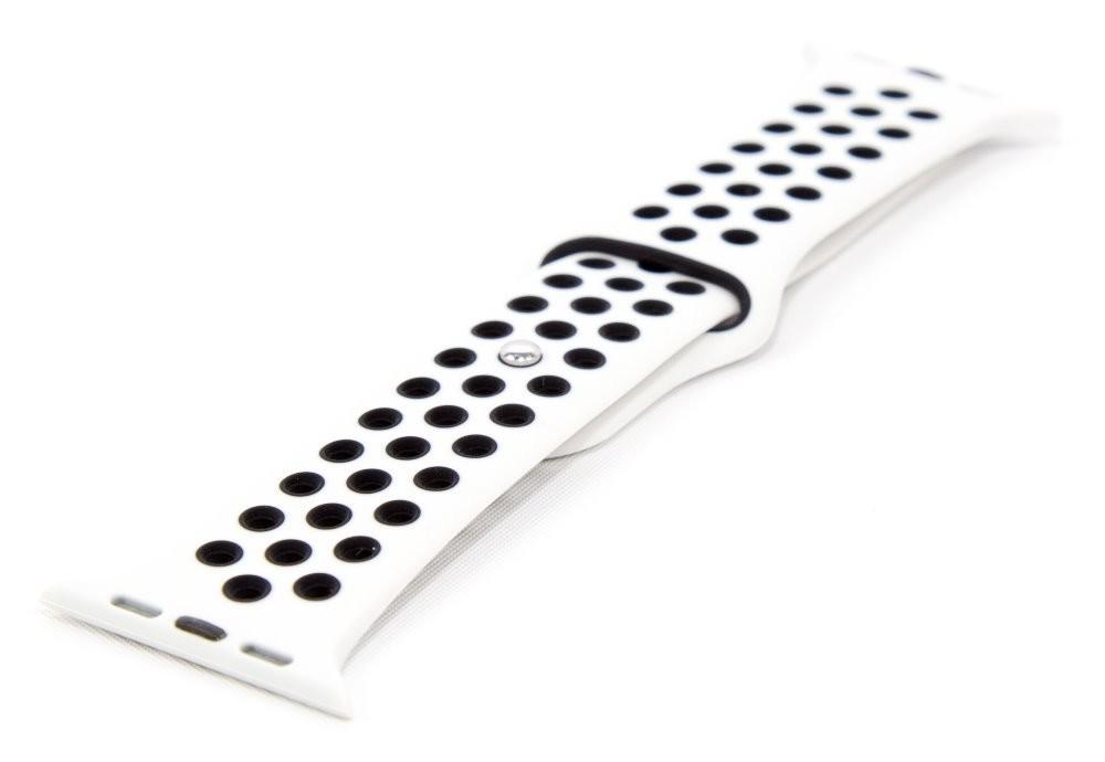 Pro Apple Řemínek pro hodinky, bílá/černá, vhodné pro Apple Watch