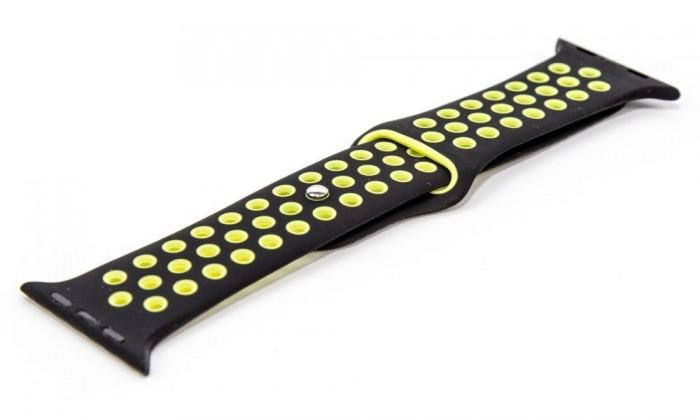 Pro Apple Řemínek pro hodinky, černá/zelená, vhodné pro Apple Watch