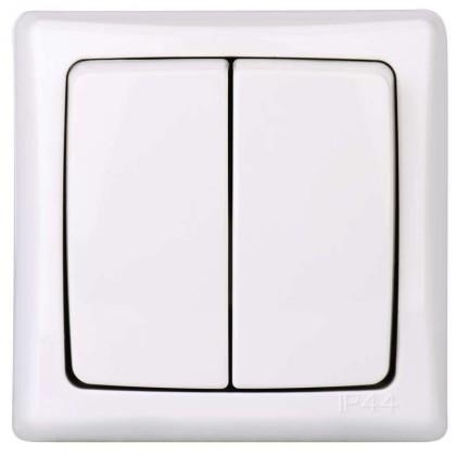 Pro Apple Vypínač ZaRa dvojitý bílý 4FN58132/S IP44