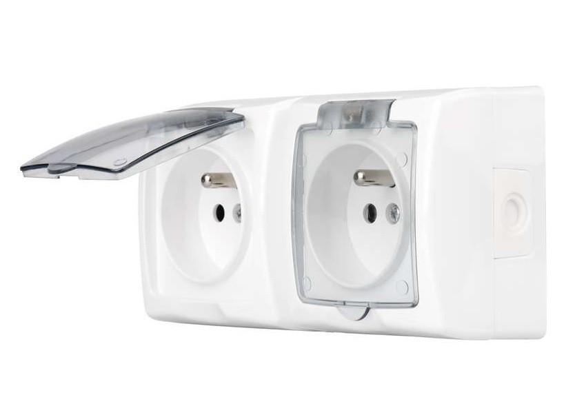 Pro Apple Zásuvka nástěnná dvojitá ZaRa bílá 4FN15090/90.2101/S IP44