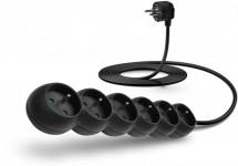 Prodlužovací kabel Connect IT, 6xzásuvka, 3m, černý