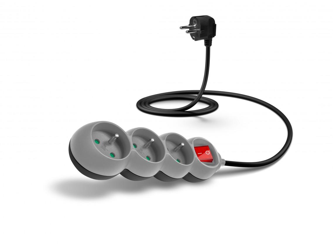 Prodlužovací kabel Connect IT prodlužovací kabel 1,5m 3 zásuvky vypínač