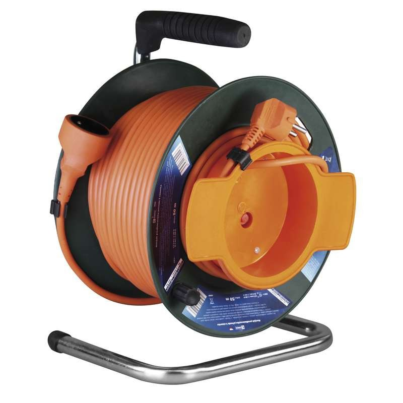 Prodlužovací kabel Emos P19150, PVC prodlužovací kabel na bubnu, spojka 50m