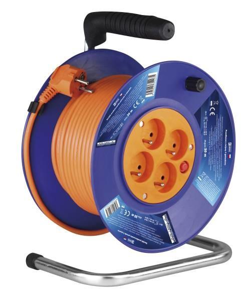 Prodlužovací kabel Emos P19430, PVC prodlužovací kabel na bubnu, 4 zásuvky 30m