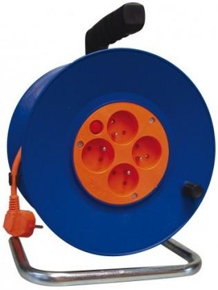 Prodlužovací kabel Emos P19450, PVC prodlužovací kabel na bubnu, 4 zásuvky 50m
