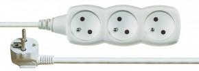 Prodlužovací kabel Emos PP3Z2M, 3xzásuvka, 2m, bílý