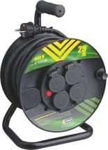 Prodlužovací kabel na bubnu Emos P084251, 4xzásuvka, 25m, černý