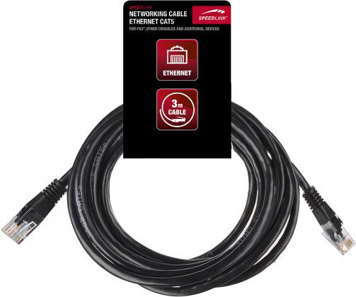 Prodlužovací kabel NETWORKING CABLE - Ethernet Cat5 - for PS3, 3m