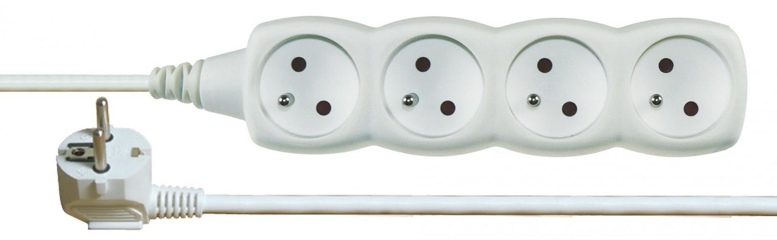 Prodlužovací kabel Prodlužovací kabel 1,5m 4 zásuvky bílý
