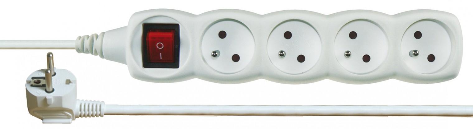 Prodlužovací kabel Prodlužovací kabel 10m 4 zásuvky vypínač