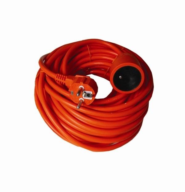Prodlužovací kabel Prodlužovací kabel 30m 1 zásuvka oranžový