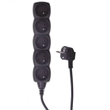 Prodlužovací kabel Prodlužovací kabel 3m 5 zásuvek vypínač černý