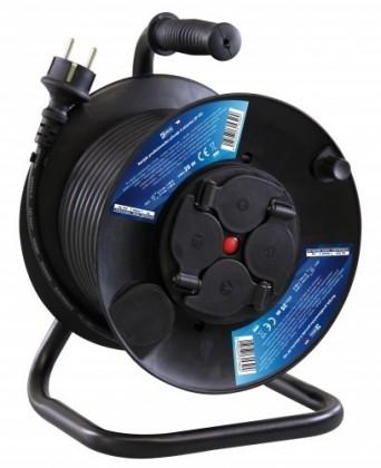 Prodlužovací kabel Prodlužovací kabel na bubnu, 4 zásuvky, 25M guma