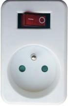 Průběžná zásuvka s vypínačem Solight P96, bílá