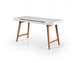 Psací stůl Agape (bílá, buk)