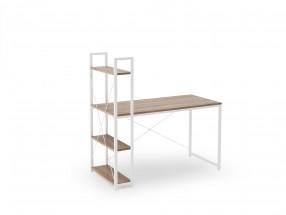 Psací stůl Jerico (120x120x64 cm, dub sonoma, bílá)