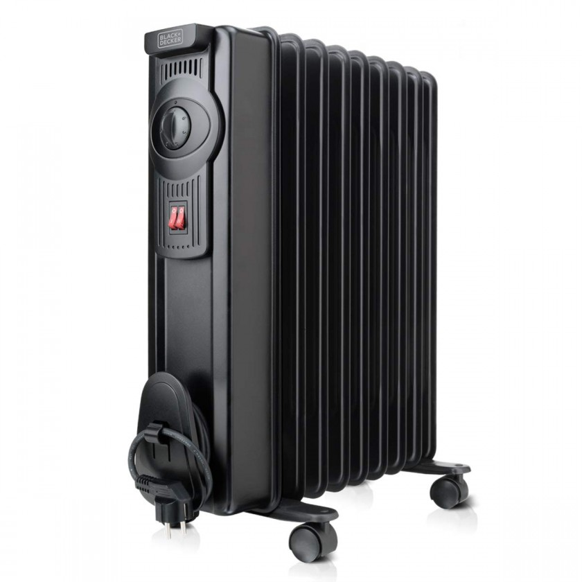 Radiátor Olejový radiátor Black+Decker BXRA1500E, 9 žeber
