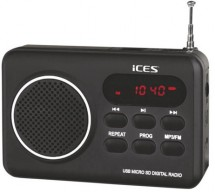 Rádio ICES IMPR-112, černé