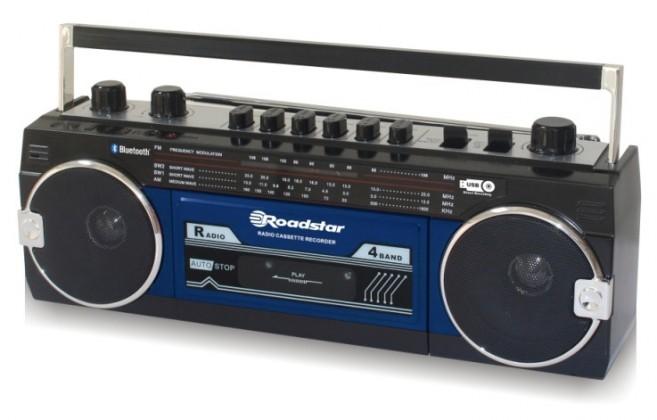 Levně Rádio roadstar rcr-3025ebt modrý