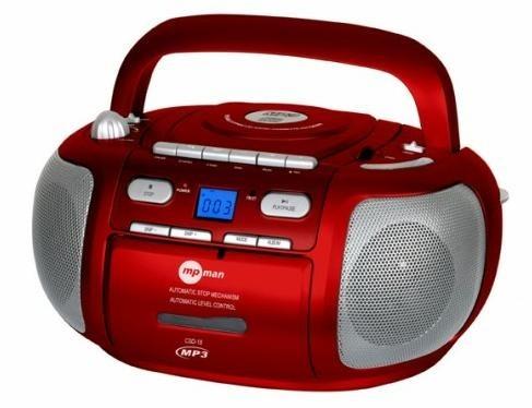 Rádio s CD MPMan CSD18RED