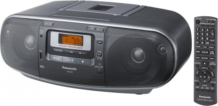 Rádio s CD Panasonic RX-D55AEG-K POUŽITÉ, NEOPOTŘEBENÉ ZBOŽÍ