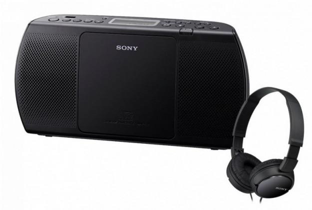 Rádio s CD Sony ZS-PE40CPB + MDR-ZX110B (Black)