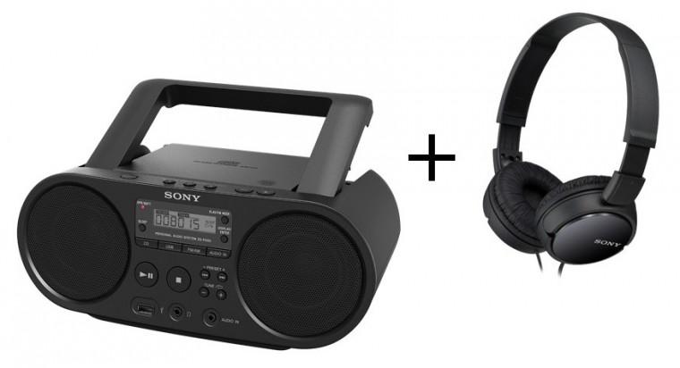 Rádio s CD Sony ZS-PS50 + sluchátka MDR-ZX110B