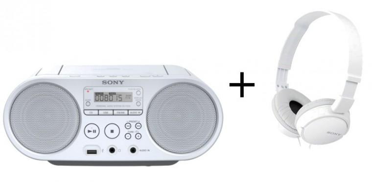 Rádio s CD Sony ZS-PS50 + sluchátka MDR-ZX110W