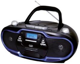 Radiomagnetofon Trevi CMP 574, černo modrý