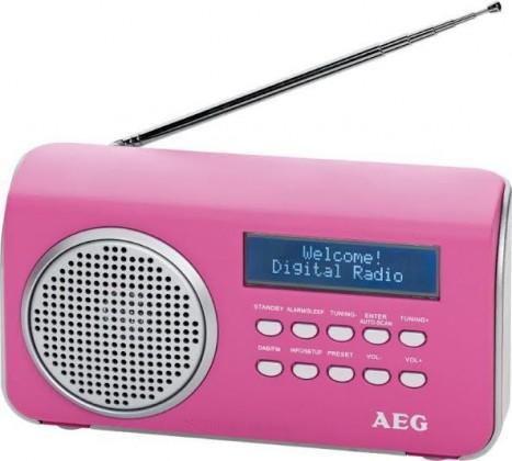 Radiopřijímač AEG DAB 4130 (Pink)