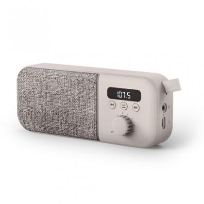 Levně Radiopřijímač energy fabric box radio cream