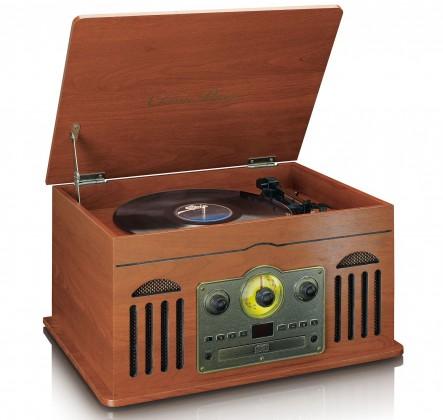Radiopřijímač Lenco TCD2600, hnědý