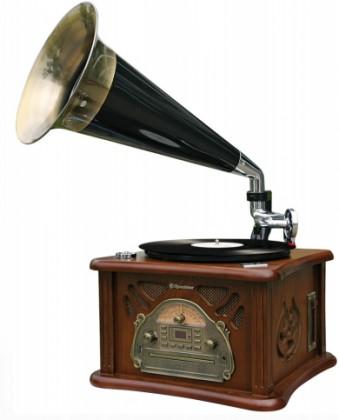 Radiopřijímač Retro gramofon Roadstar HIF-1850TUMPK