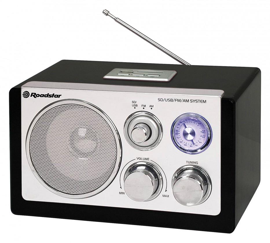 Radiopřijímač Roadstar dřevěné rádio HRA-1320 US/Black ROZBALENO
