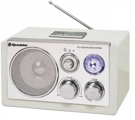 Radiopřijímač Roadstar dřevěné rádio HRA-1320 US/White