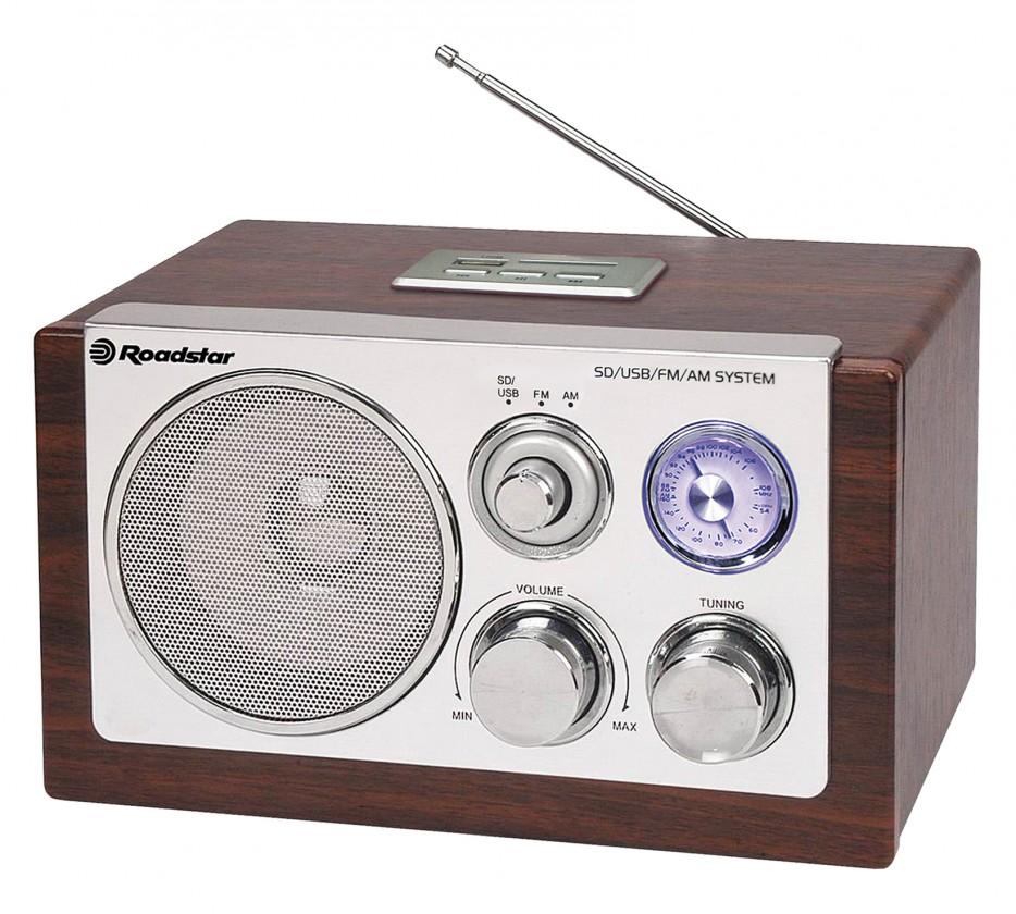 Radiopřijímač Roadstar dřevěné rádio HRA-1320 US/Wood ROZBALENO
