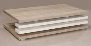 Rail 2 - Konferenční stolek obdélníkový (bardolino/bílá arctic)