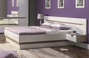 Rám postele Leone 140x200, dub, bílá