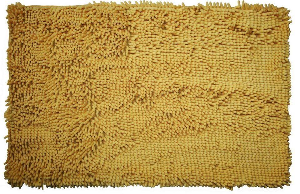 Rasta micro - koupelnová předložka, 50x80 cm (žlutá)