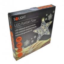 Ratanová vánoční hvězda Solight 1V41, 10xLED, bílá POUŽITÉ, NEOPO