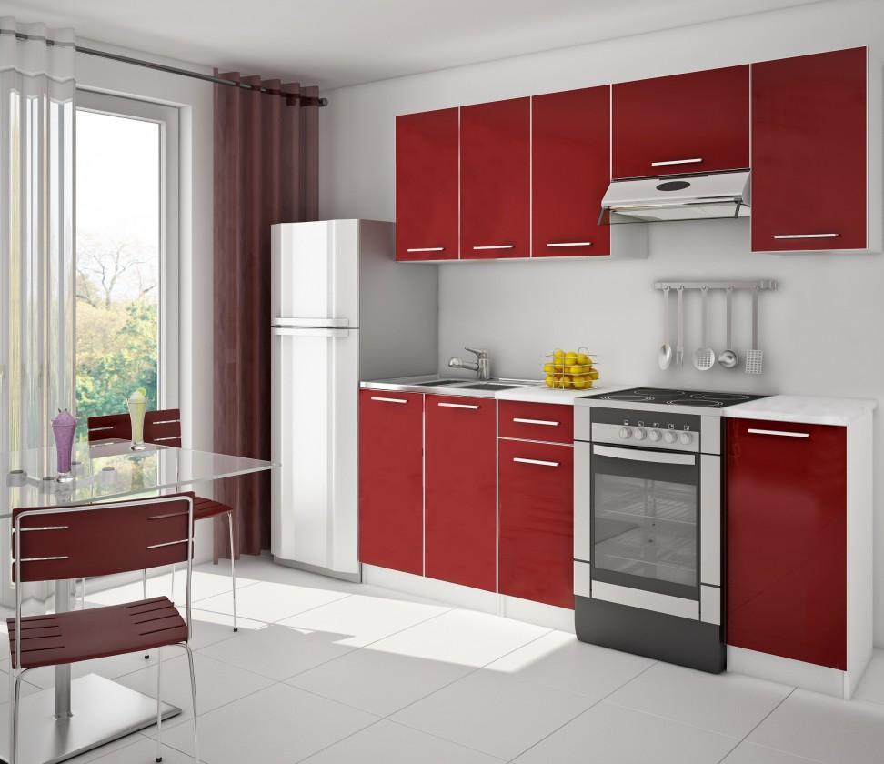 Red 14 - Kuchyňský blok (bílá / červená)