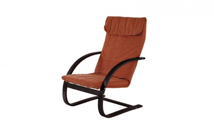 Relaxační Fiori - Křeslo relaxační (ořech / mikroplyš teracota)