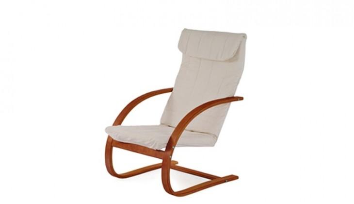 Relaxační Fiori - Křeslo relaxační (třešeň / látka krémová)