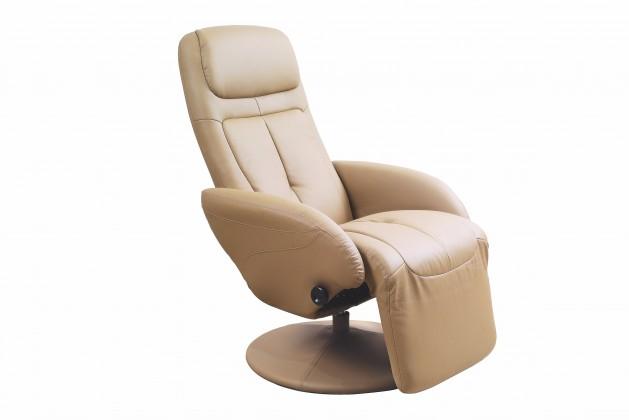 Relaxační Optima - Křeslo, polohovací (eko kůže béžová)