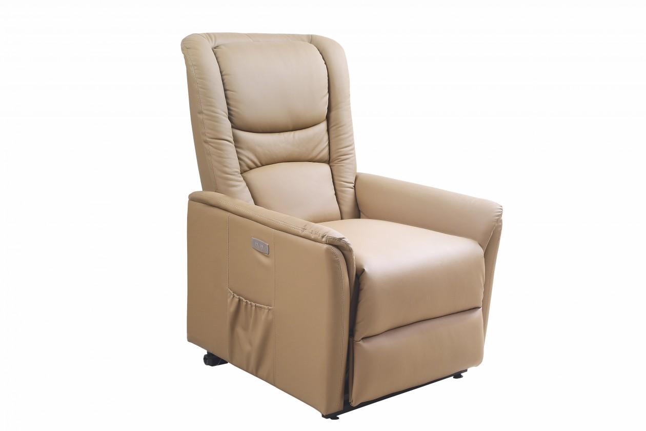 Relaxační Senator - Křeslo, polohovací (eko kůže béžová)