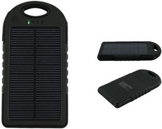 REMAX PowerBank 5 000 mAh - solární, černá barva
