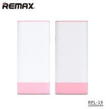 Remax powerbanka RPL-19 Youth, 10000 mAh, white-pink
