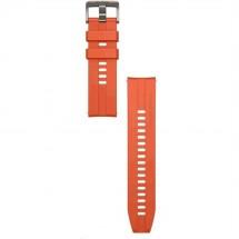Řemínek 22mm Huawei pro chytré hodinky, silikon, oranžová