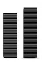 Řemínek Aligator, š. 22mm, kovový, černá